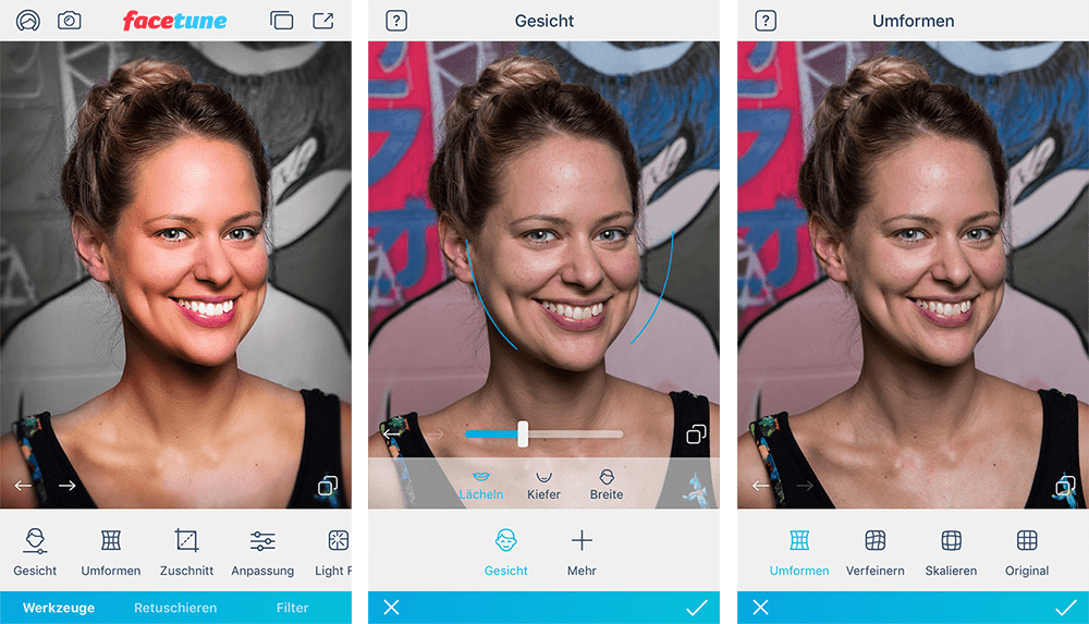 Facetune 2 - Apps to make you look skinny