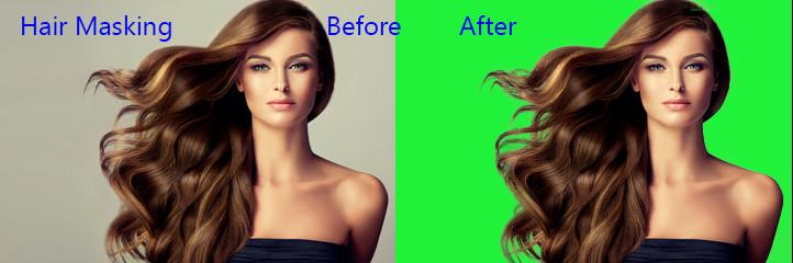 remove background around hair
