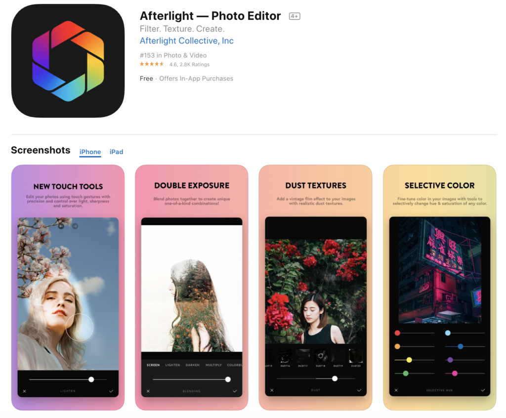 Photo editing apps for smartphone