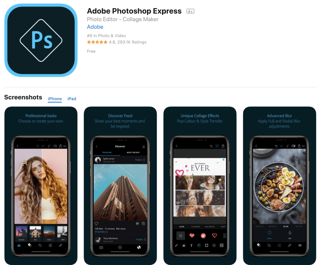 photo editing software for iOS and Android
